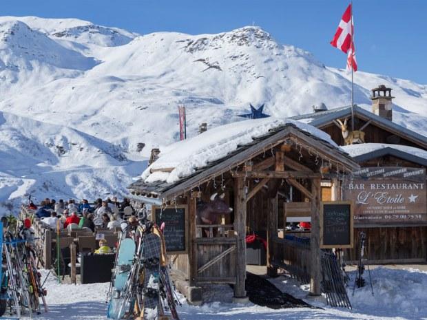 Hütte im Skigebiet in Frankreich