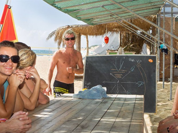 Theorieunterricht für Wassersport auf der Insel Korfu